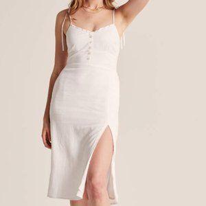 NWT Abercrombie White Linen Midi Dress XS